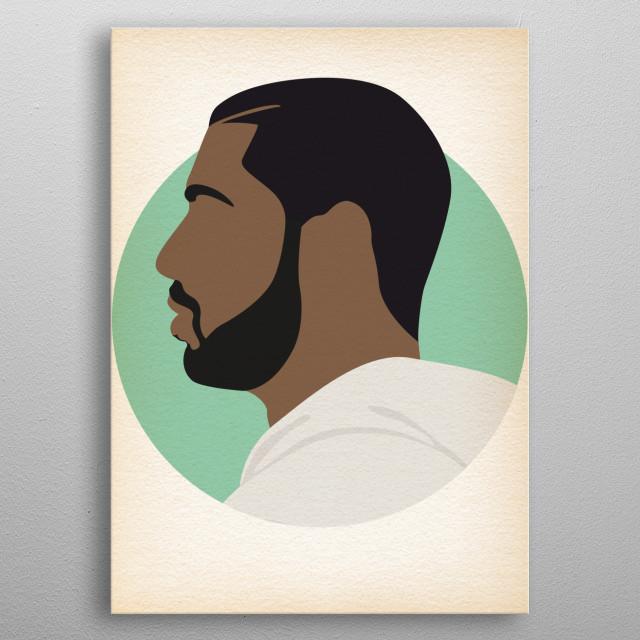 Drake - Hip Hop Heads Minimalist metal poster