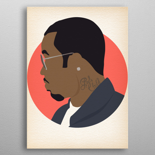 P Diddy - Hip Hop Heads Minimalist metal poster
