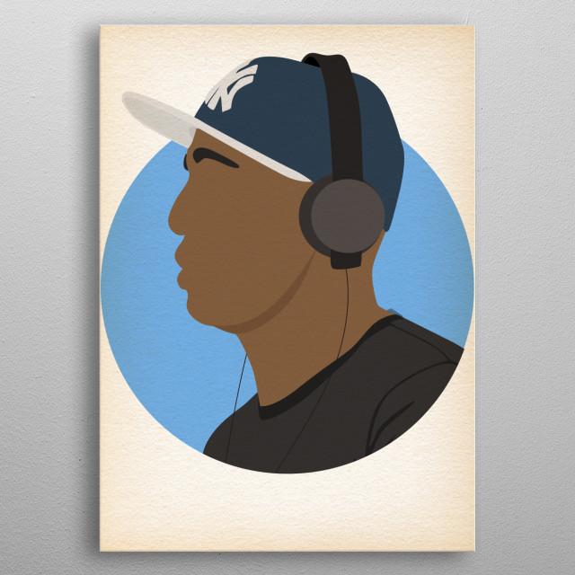 Grandmaster Flash - Hip Hop Heads Minimalist metal poster