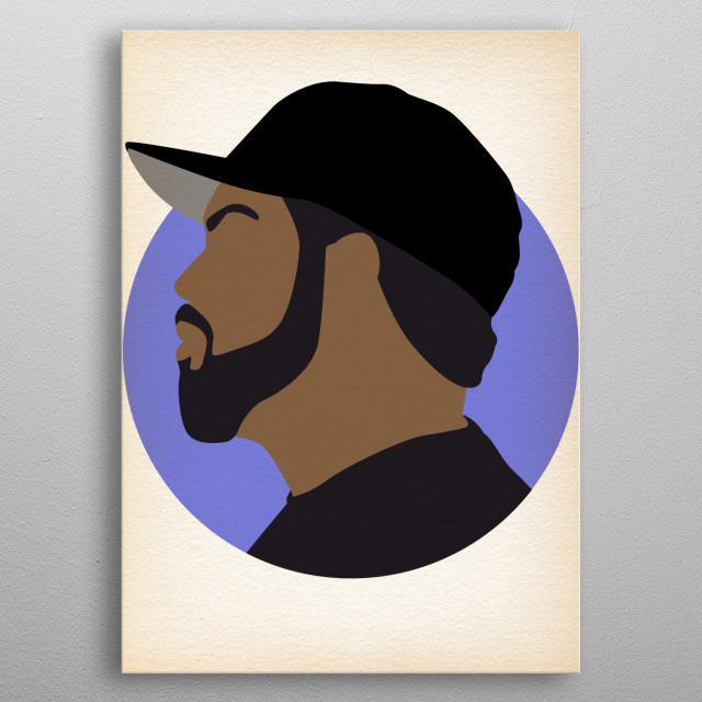 Ice Cube - Hip Hop Heads Minimalist metal poster