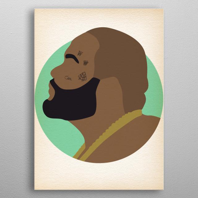 Rick Ross - Hip Hop Heads Minimalist metal poster