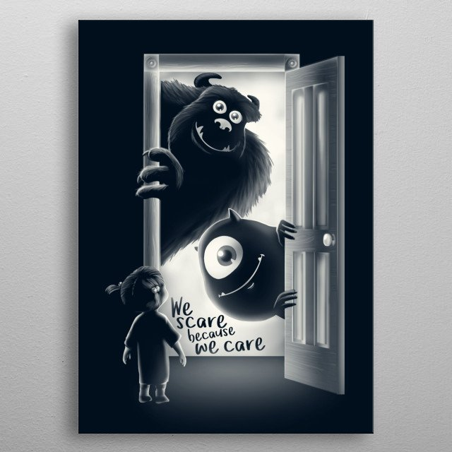 we scare because we care metal poster