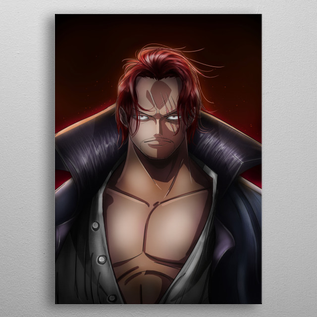 One Piece. Yonko Red-Haired Shanks  metal poster