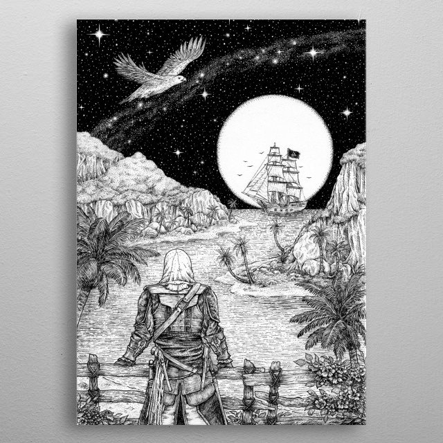 This marvelous metal poster designed by Rhisynyster to add authenticity to your place. Display your passion to the whole world. metal poster