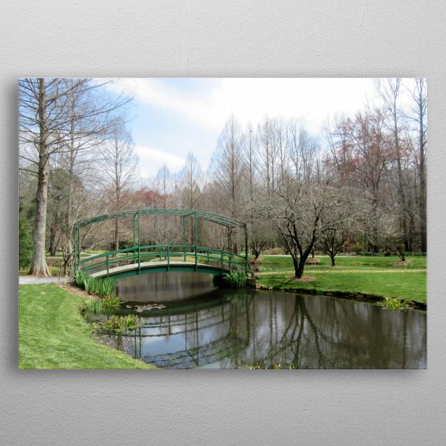 Reflective Pond metal poster