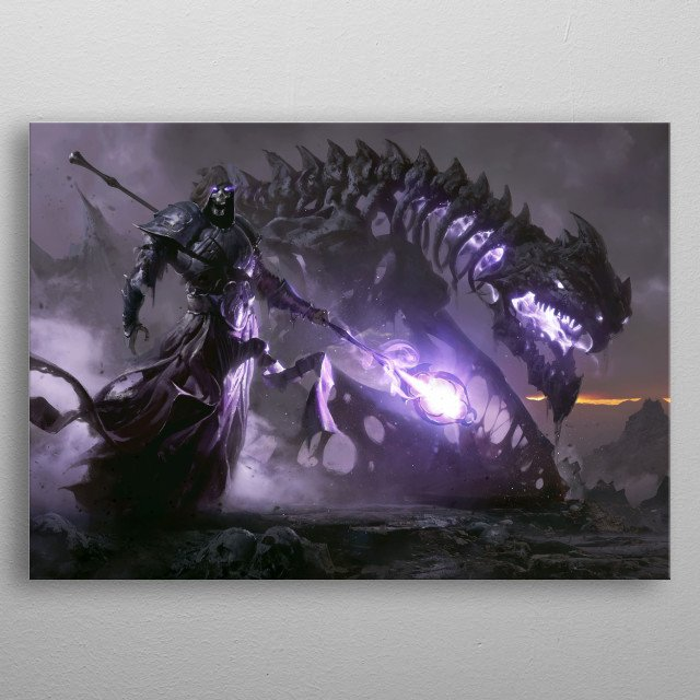 Undead Overlord metal poster
