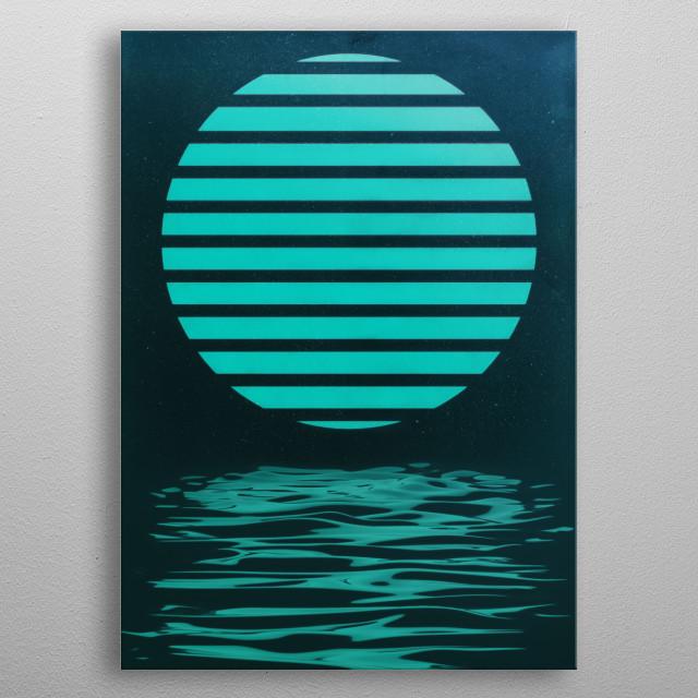 Circle over Water metal poster
