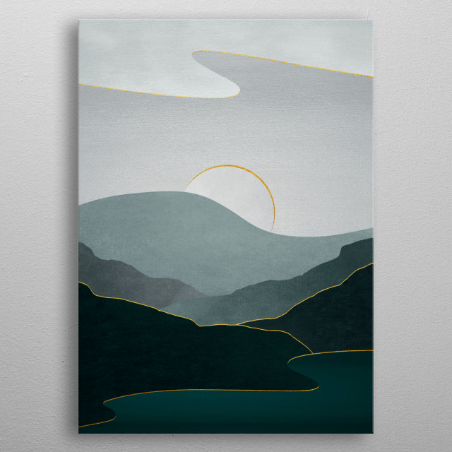 High-quality metal print from amazing Surreal Minimal Landscapes collection will bring unique style to your space and will show off your personality. metal poster