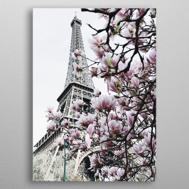 Blooming metal poster