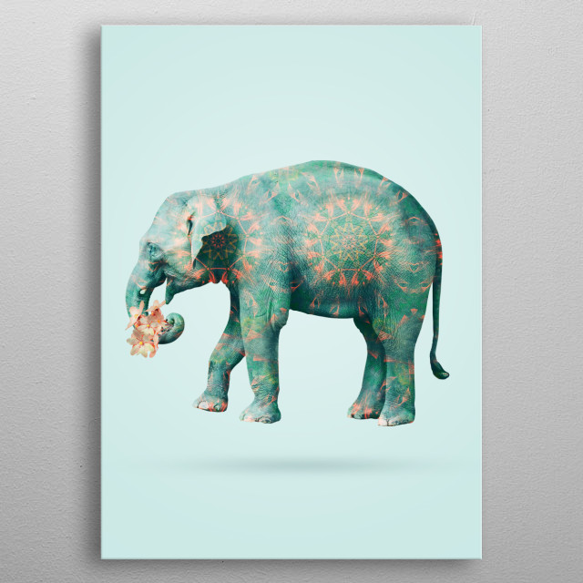 elephant in love  metal poster