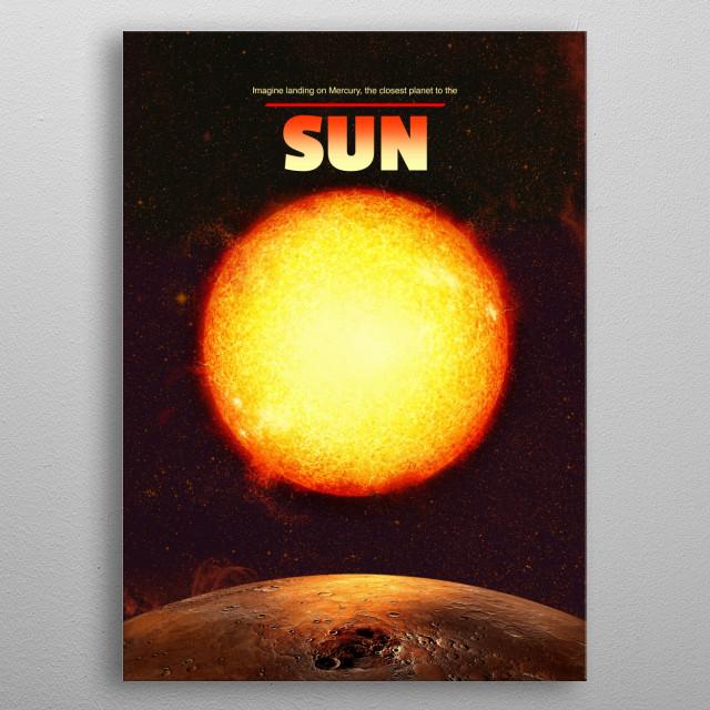 Sun metal poster