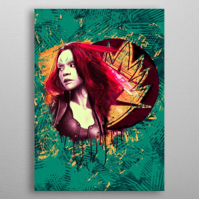 Gamora metal poster