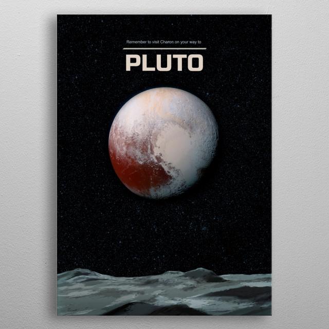 Pluto metal poster