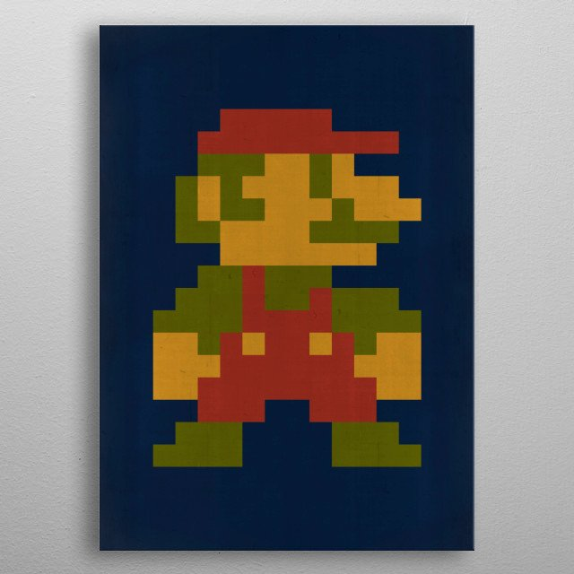 High-quality metal print from amazing Super Mario collection will bring unique style to your space and will show off your personality. metal poster