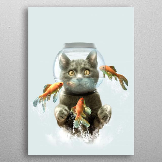 The cat metal poster