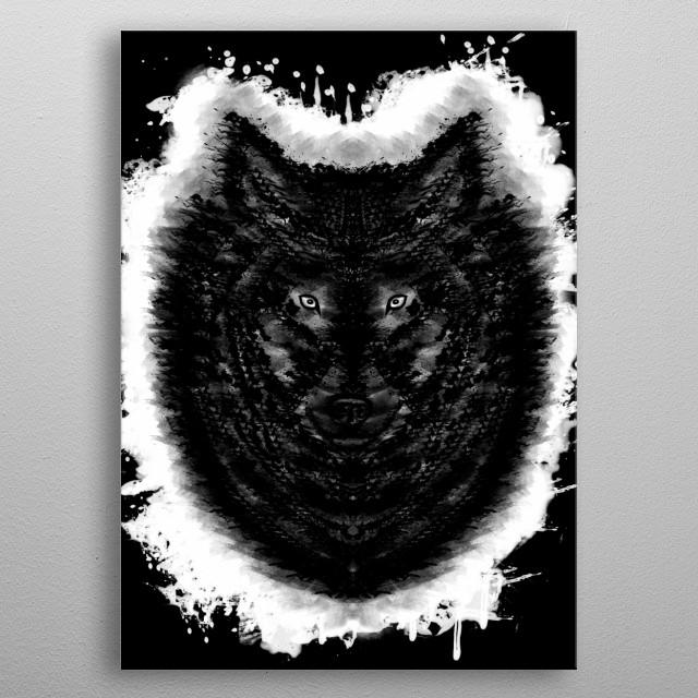 Fascinating metal poster designed by Brian Vegas. Displate has a unique signature and hologram on the back to add authenticity to each design. metal poster