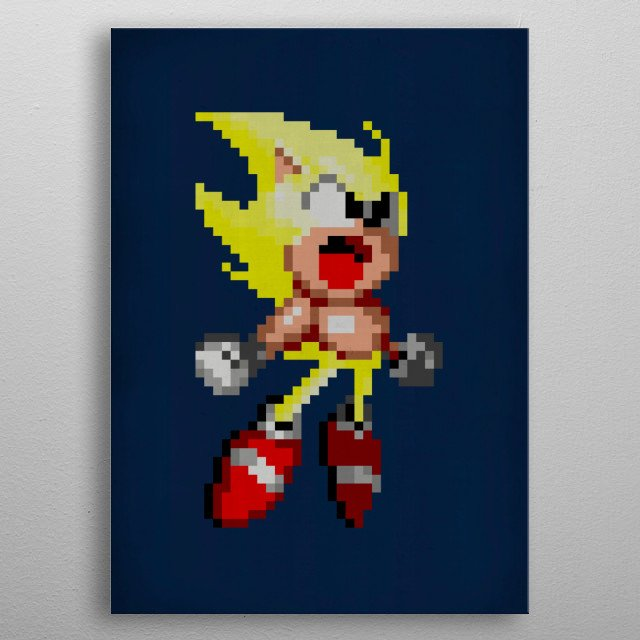 Fascinating metal poster designed by PIXLTEES INC. Displate has a unique signature and hologram on the back to add authenticity to each design. metal poster