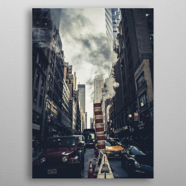 Urban New York metal poster