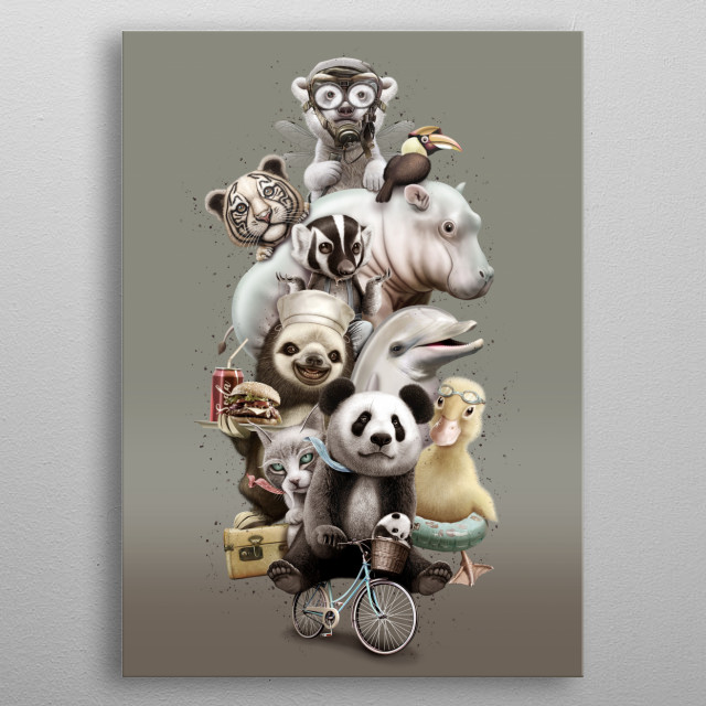 High-quality metal print from amazing Panda collection will bring unique style to your space and will show off your personality. metal poster