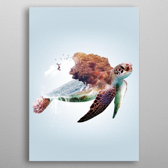 Turtle metal poster