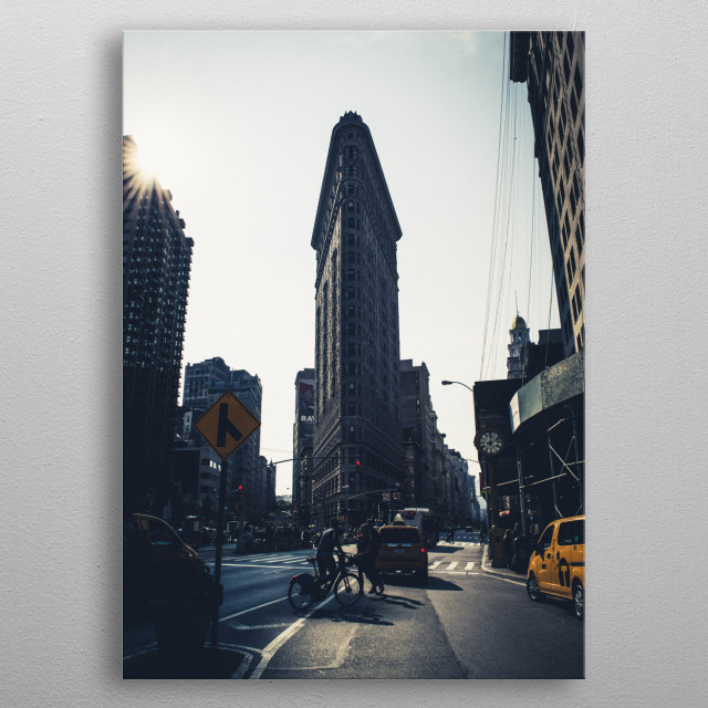 Flatiron NY metal poster