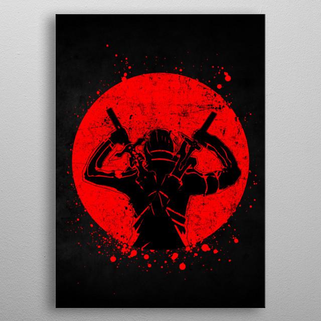 Red Moon - Sword Art Online Kirito metal poster
