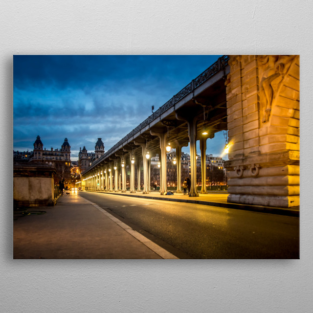 High-quality metal print from amazing Paris collection will bring unique style to your space and will show off your personality. metal poster