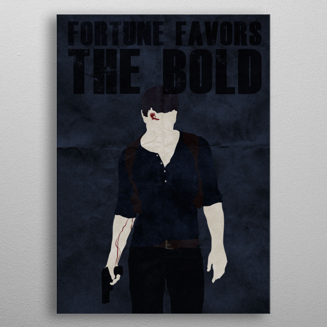 Fortune Favors the Bold metal poster