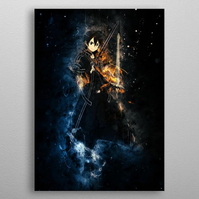 Kirito - Sword Art Online metal poster