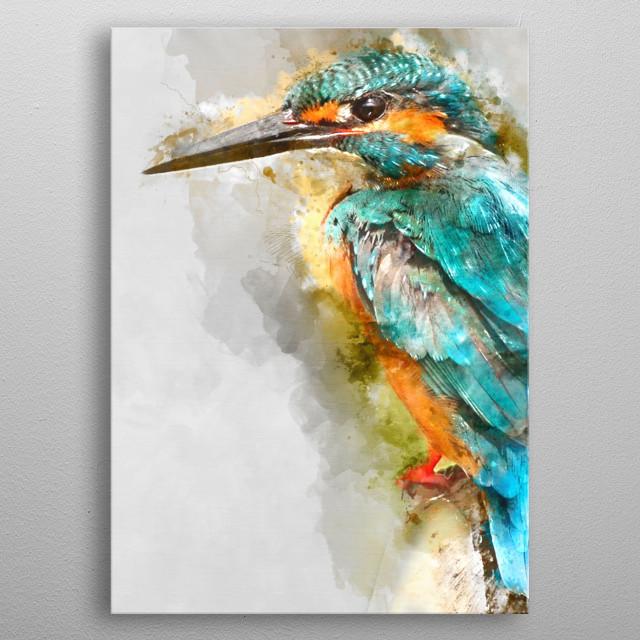 Bird / WaterColor metal poster