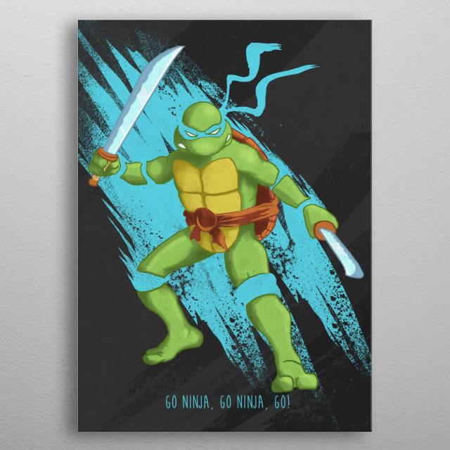 Leonardo metal poster