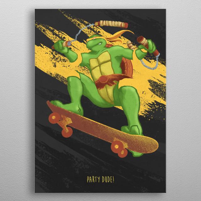 Michelangelo metal poster