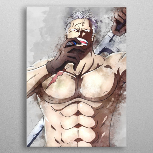 Smoker / Onepiece / Watercolor metal poster
