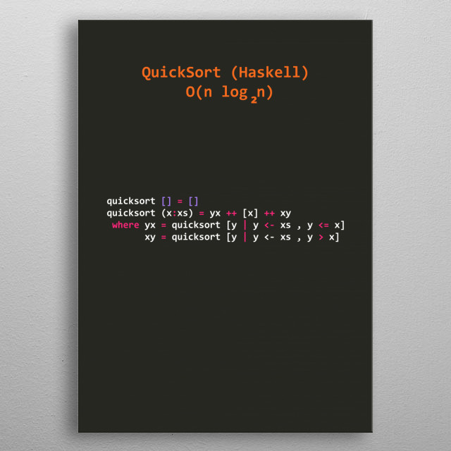 Functional Programming Algorithms in Haskell #1 metal poster