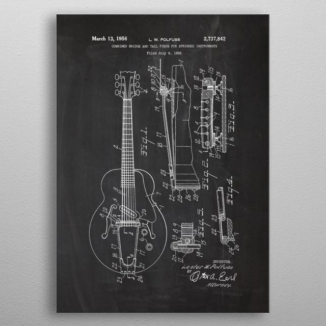 1952 Bridge and Tail - Patent Drawing metal poster