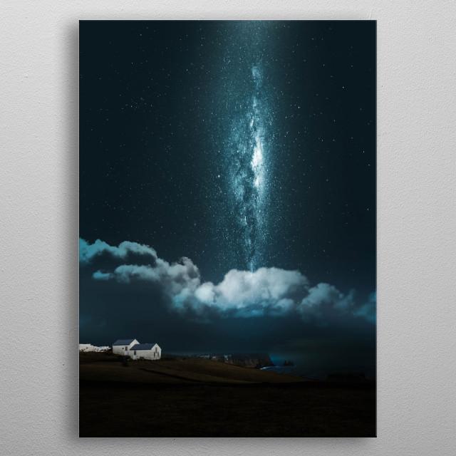 Foggy Milky Way  metal poster