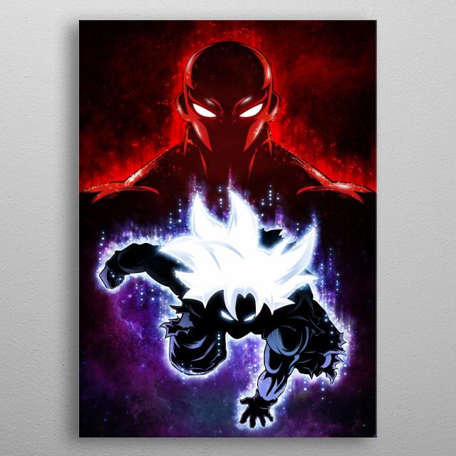 Goku Master Ultra Instinct vs Jiren metal poster