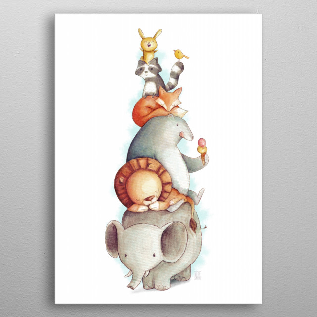 Party Animals metal poster