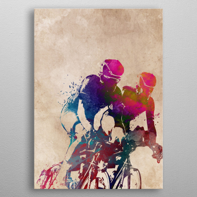 Cycling metal poster