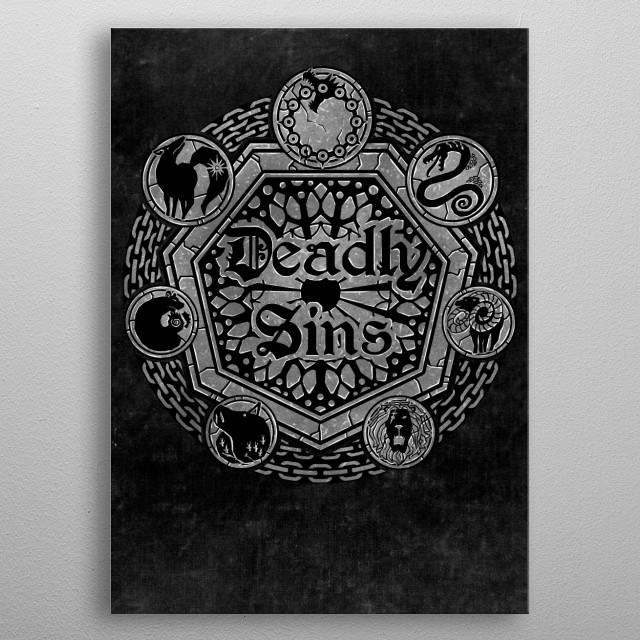 Sins Shield metal poster