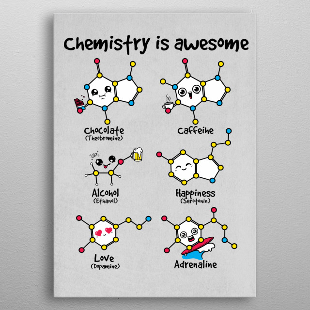 Chemistry is awesome metal poster