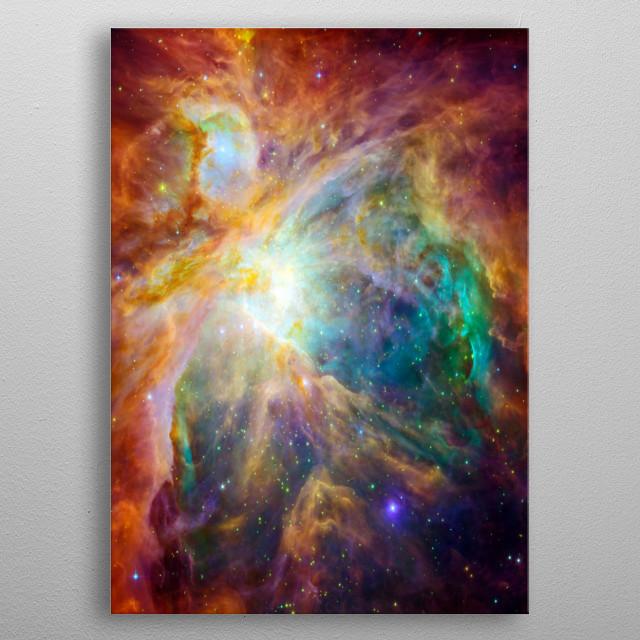 The cosmic cloud Orion Nebula metal poster
