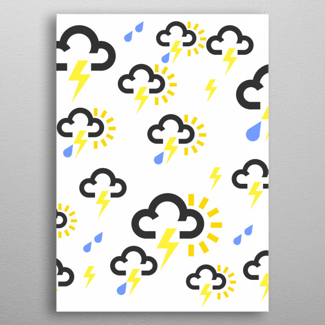 Thunderstorm weather forecast  metal poster