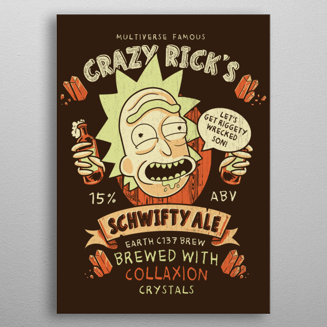 Riggity Wrecked metal poster