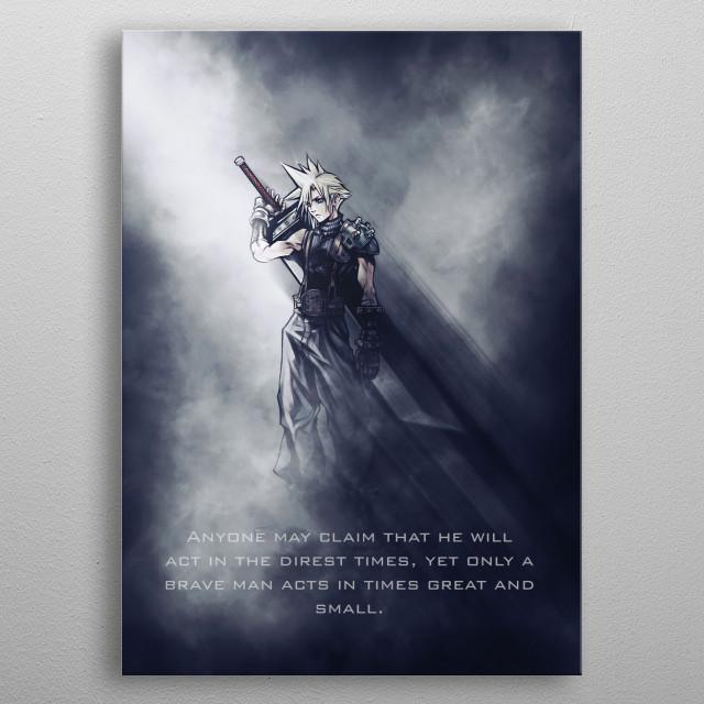 Cloud / Final Fantasy / Tagline metal poster