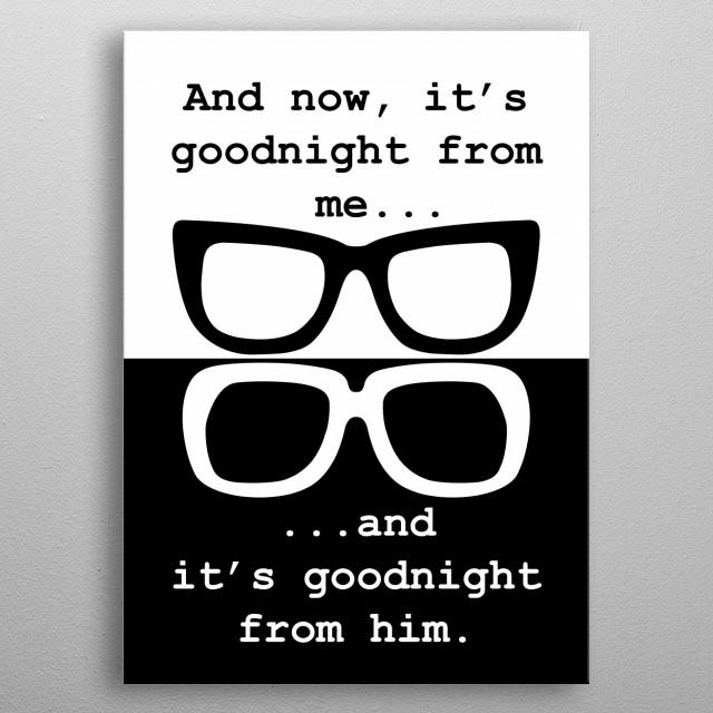 Two Ronnies comedy glasses metal poster