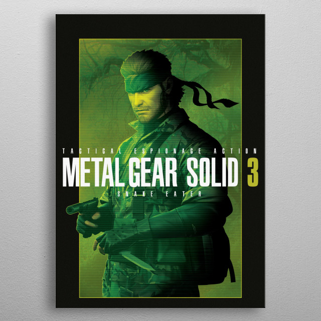 High-quality metal print from amazing Metal Gear Solid collection will bring unique style to your space and will show off your personality. metal poster