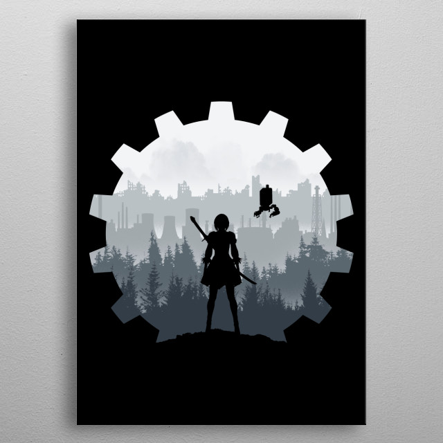 Weight of the World metal poster