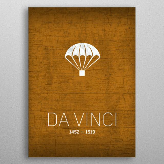 Leonardo Da Vinci The Inventors Series No 022 metal poster