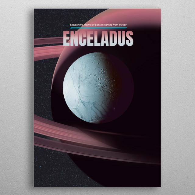 Enceladus metal poster